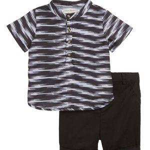 little brother by pippa&julie Matching Sets - Shirt short set